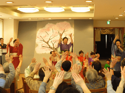 時のかけはしにて日本舞踊の鑑賞会を開催されました!